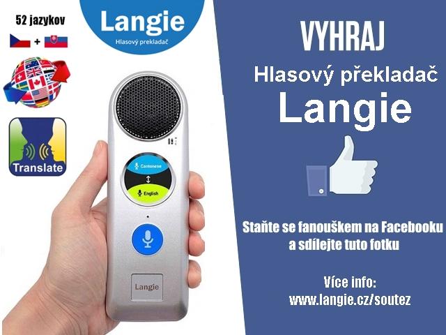 Překladač řeči LANGIE Soutěž
